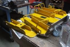 Tony has been able to recommence painting the track jacks in safety yellow …