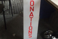 … after re-painting the lettering on the Donation Box.