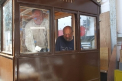 Dick then helps Charles, fitting more glass in carriage No. 23 …