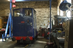 No. 6 snoozes in the back of the Engine Shed awaiting testing to determine the electrical fault.