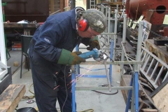 Saturday, 17.8.2019. Adrian is making up another carriage handrail …