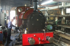 Sunday, 22.7.2018. Ah, that smells far better! No. 7 is prepared for its first steaming for some weeks (due to fire precautions) …