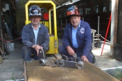 … and after a good day's welding, Adrian and Ian pose with the newly welded components …