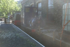 … releasing loco No. 6 to operate a weed-killing train …