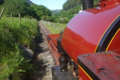 After a day with No. 7, two waggons are propelled to Corris …