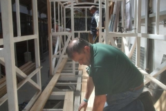 Meanwhile, Mark, Dick and Bill (amongst others) are fitting more floorboards to the floor of carriage No. 24 …