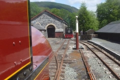 """Saturday, 12.6.2021. """"Railway for the Day"""" today, and No. 7 awaits the road as No. 11 returns from Corris."""