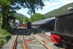 The last working from Corris drops back down on to loco No. 11 (prior to being put away) …