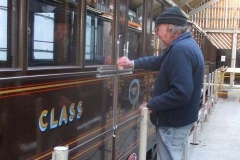 … before applying gloss paint to the body panel repairs on carriage No. 21 …