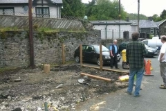 Meanwhile the fencing starts to be erected.