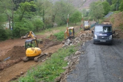 Richard and Jack then start stripping top soil on the next lowest section of the new embankment …