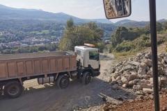 Jack loads lorries in Dolgellau … (Jack Evans)