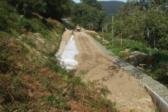 Southern Extension. Pont y Goedwig Deviation Project. Friday, 18.9.2020. With a few dry days forecast, yesterday lorries have tentatively reached the southern end of the current embankment works without mishap …