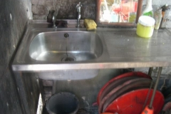 During the previous few days, Richard Foyn has rejuvenated the sink unit in the Engine Shed (to be kept clean hereafter!) …