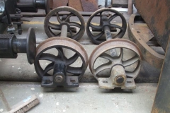 … and Richard is sorting wheelsets and axleboxes for the next underframe – with interesting results!
