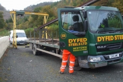 Thursday, 22.10.2020. Dyfed Steels make a delivery …