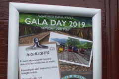 New posters have been put on display including for the forthcoming Gala Day on May 26th ...