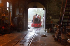 Saturday, 23.12.2017. The Engine Shed is deserted as Trefor and Tony work on loco No. 7 …