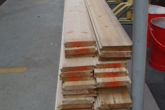 … and a good supply of timber floorboards for new build carriage No. 24.