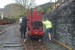 … before No. 5 acquires more mileage as a hand propelled working!