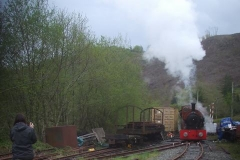 … before tackling a start with train on Maespoeth Bank with wet rails – it was challenging!