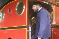 … for the videographer to drive it out of the Engine Shed (under close supervision) …
