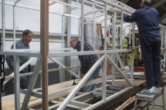 … while Tony and Charles (as well as Bill out of sight) start fitting floorboards …