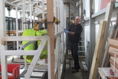 Andy then starts fitting timber sections to the structure of carriage No. 24 …