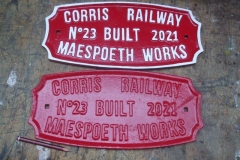 Another gift from Ian via. Andy, are various fittings for carriage No. 23, including maker's plates, one of which has been finish painted.