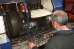 Saturday, 15.5.2021. Trefor examines the starter motor of loco No. 6 in an effort to establish the cause of starting problems with it …