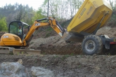 To minimise waste, required careful co-ordination between the excavator  and …