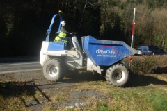 He was particularly anxious that we got the Company name illustrated – part of works being undertaken for the BETWS (Bont Evans Tree Works and Soil Stabilisation) Project.