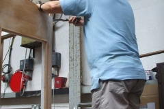 … as Graham trims back mouldings (yes, it was warm today!) …
