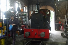 … in a part of the shed where they can reach the top of the saddle tank!