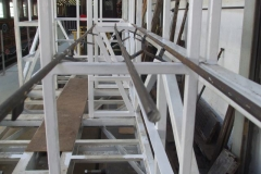 … of handrails for the two carriages – another one is laid out by No. 23 to show to our visitors.