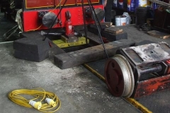 … of the trailing truck, brake shaft and ashpan …