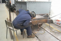 … and Ade continues work on the Queen Mary waggon.