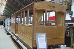 … and in the Carriage Shed, carriage No. 23 has received its final coats of waterproofer before painting.