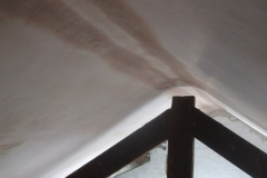 The plaster in the Coach House roof is slowly drying. Once complete, it can be painted.