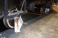 Tuesday, 24.4.2018. The wheelsets are now back under loco No. 6 …