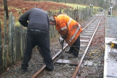 … and packing sleepers replaced yesterday.