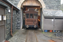 … for carriage No. 22 to visit the Engine Shed for the first time …