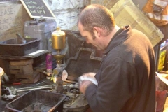 Late in the afternoon, rain interrupts, so Trefor comes in to prepare No. 7's safety valves for inspection next week.