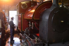 Monday, 26.5.14. Derek is cleaning No. 7 as it gently simmers in the shed …