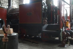 Inside the Engine Shed, No. 7 has now regained its trailing truck as progress is made towards a steam test.