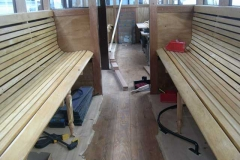 The two seats in the south compartment of carriage No. 22 have been completed ...