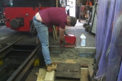 … before moving on to concrete one of two steps in the Engine Shed.