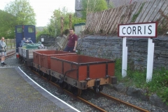 """… before re-fixing the refurbished """"Corris"""" running-in board with Tony."""