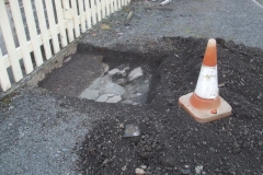 An excavation was also made for an electric vehicle charging point foundation in the car park at Maespoeth sheds.