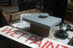 Meanwhile, Adrian has fabricated a modified lid for one of No. 7's sandboxes, which Tony has primed …